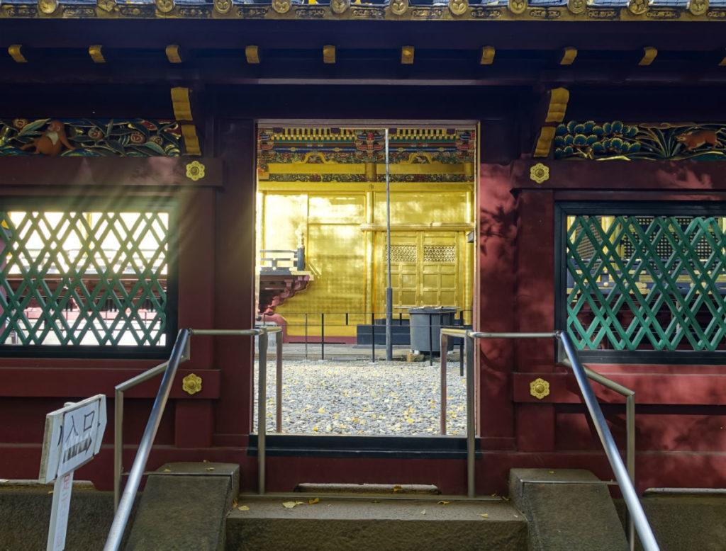 上野東照宮 社殿への道
