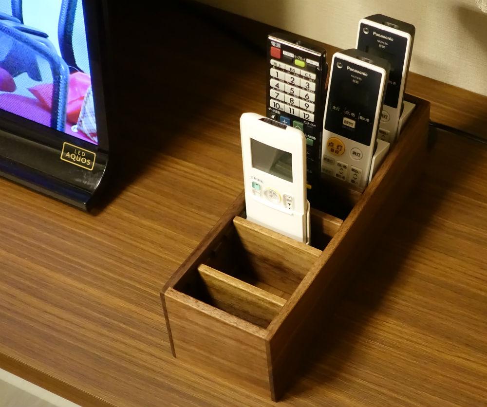 Walnutリモコンボックス 使用例 TV