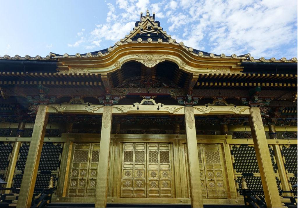 上野東照宮 社殿 正面から