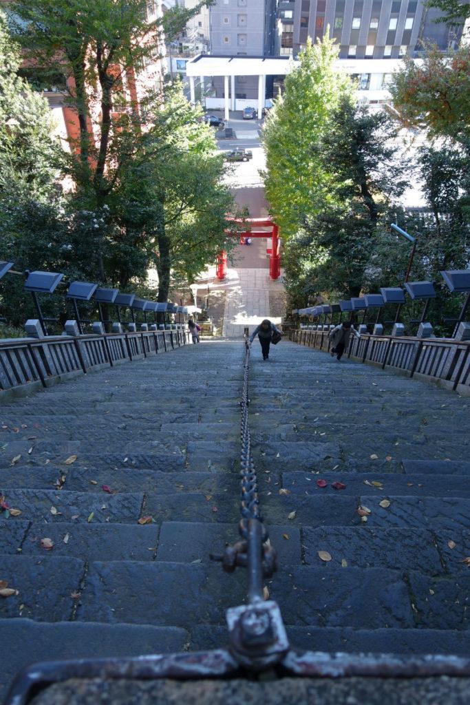 愛宕神社 出世の石段 上から見下ろす