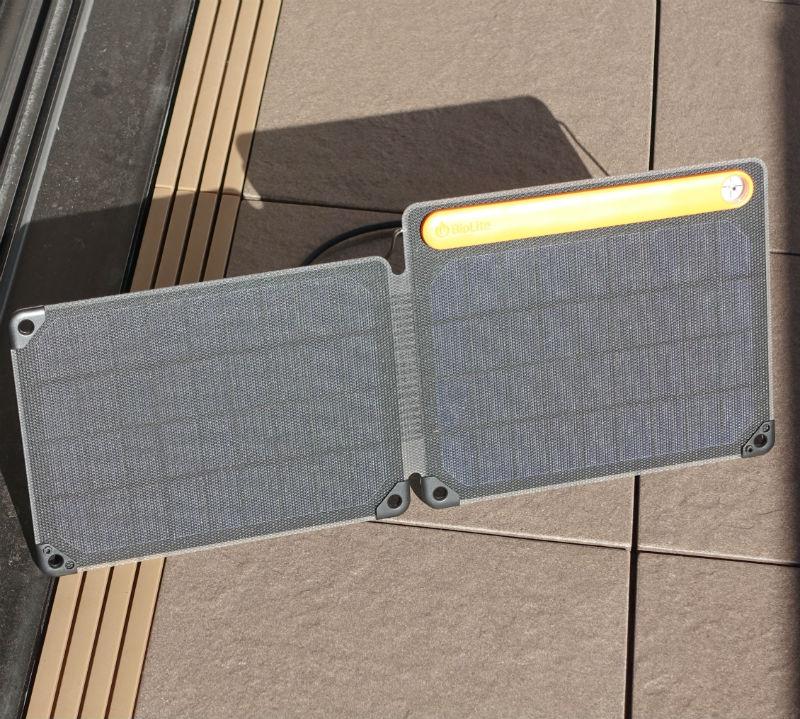 BioLite SolarPanel 10 plus 発電中
