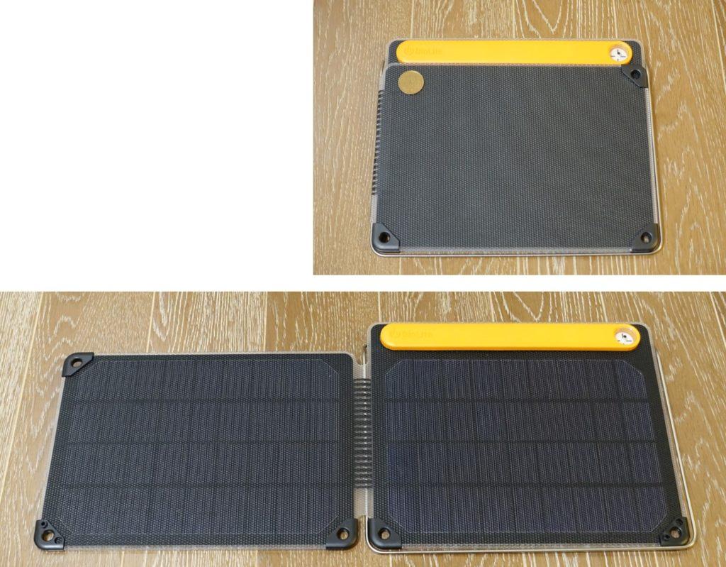 BioLite SolarPanel 10 plus パネル開閉