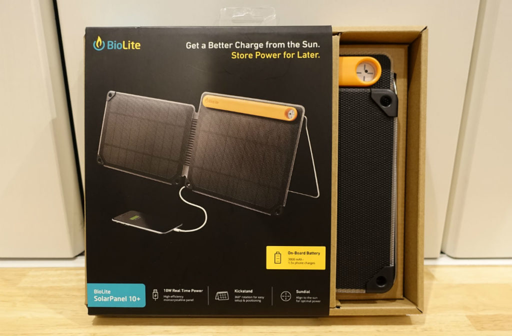 BioLite SolarPanel 10 plus package