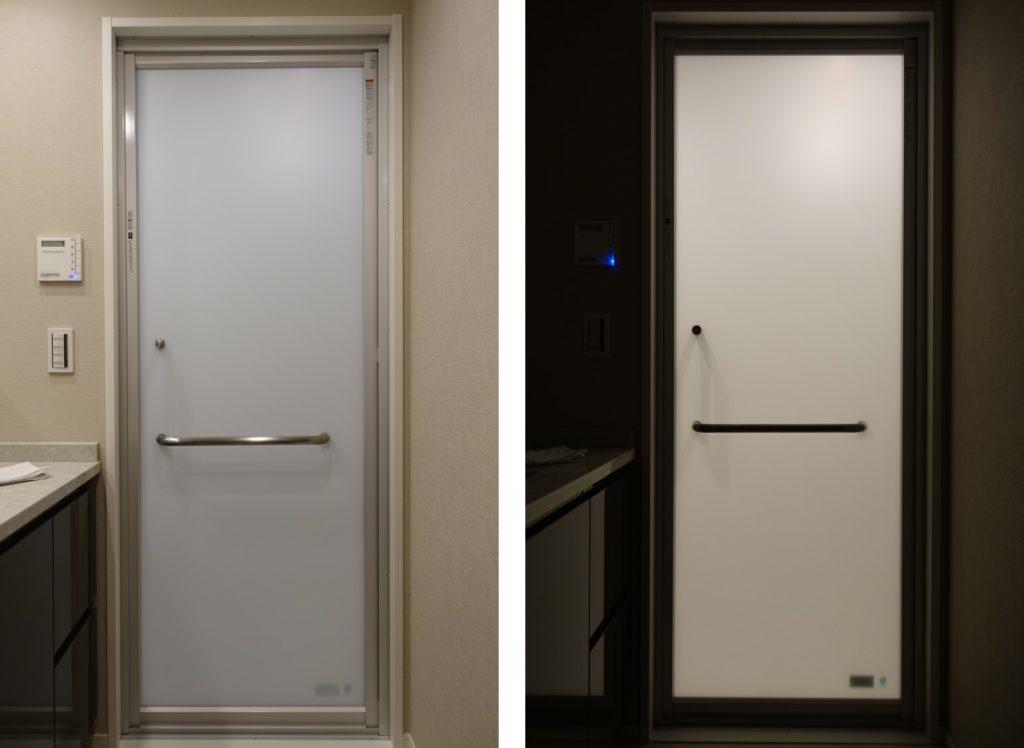 LIXIL SOLEO ドア すりガラスの透過性