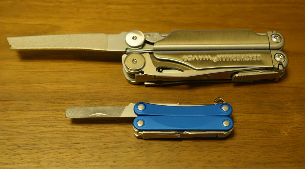 LEATHERMAN SQUIRT PS4とWAVE やすり比較