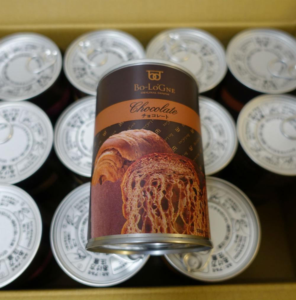缶 de ボローニャ チョコレート味 EC
