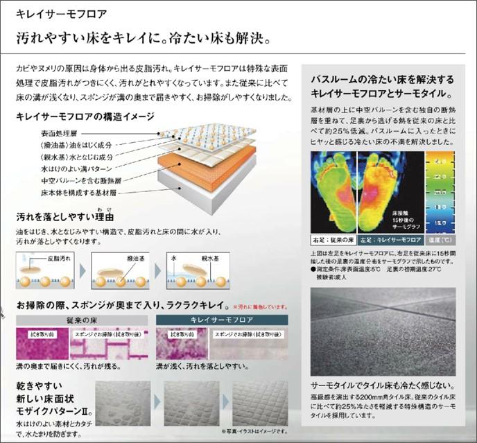 LIXIL SOLEO サーモタイル床 説明