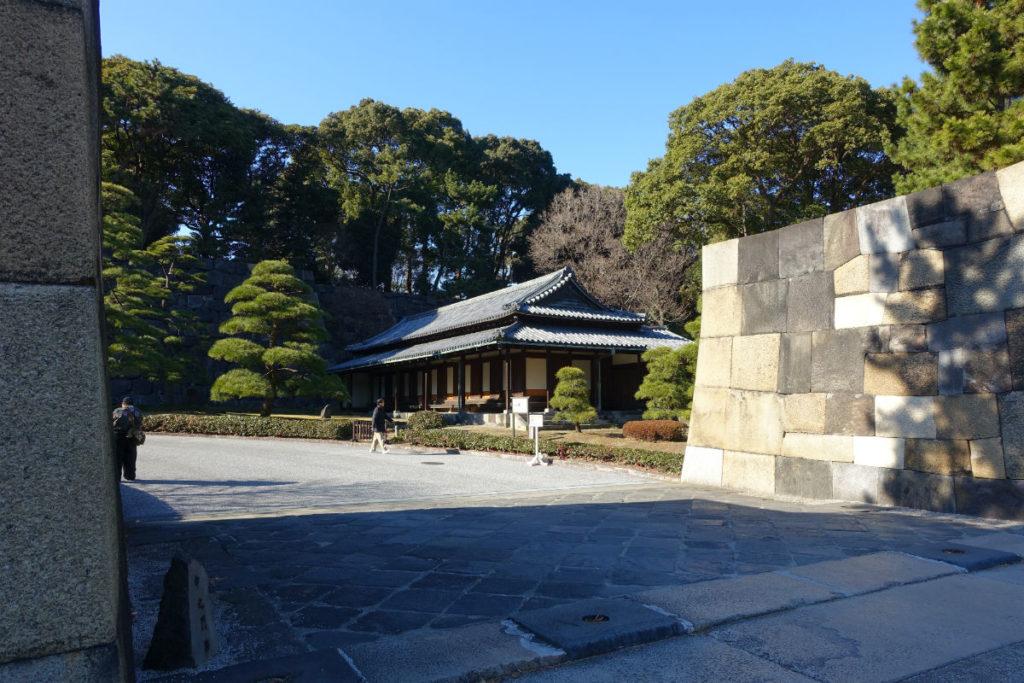 皇居東御苑 中之門の先の大番所