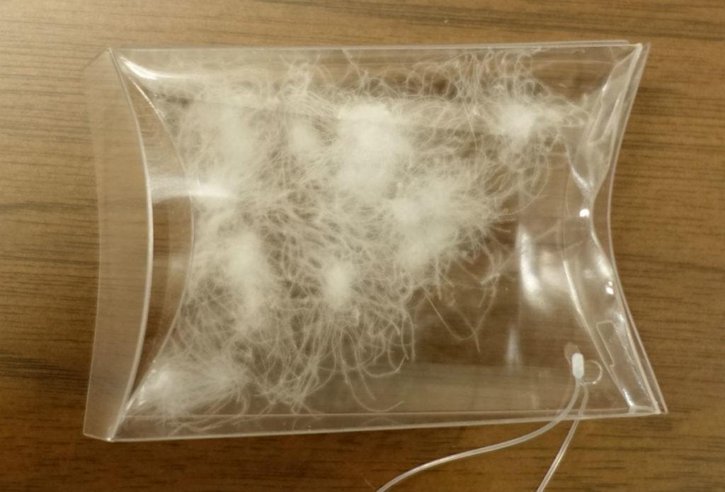 生毛工房 羽毛布団 ダウンボールのサンプル