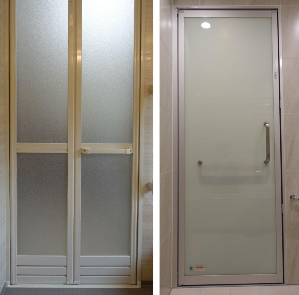 新旧 浴室ドア