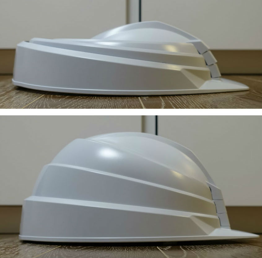 DIC Helmet IZANO 側面 折り畳み時と使用時EC