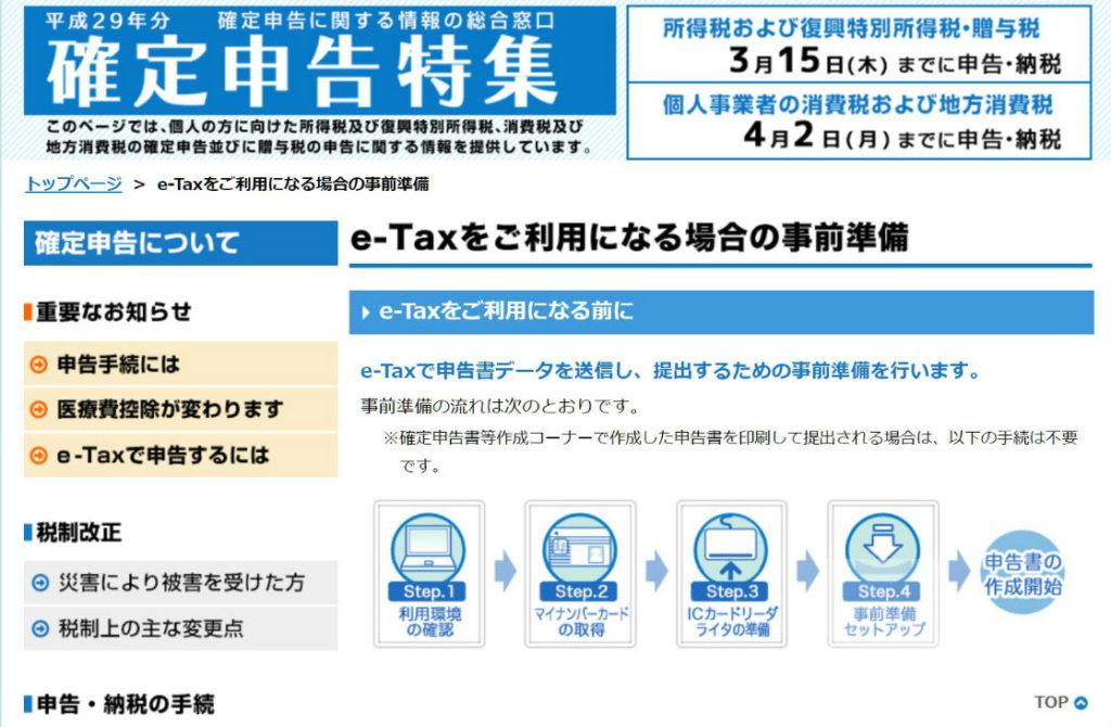 e-Taxをご利用になる場合の事前準備 H29