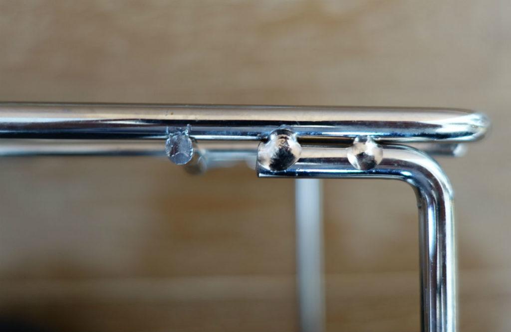 パール金属 積み重ね棚 脚部溶接