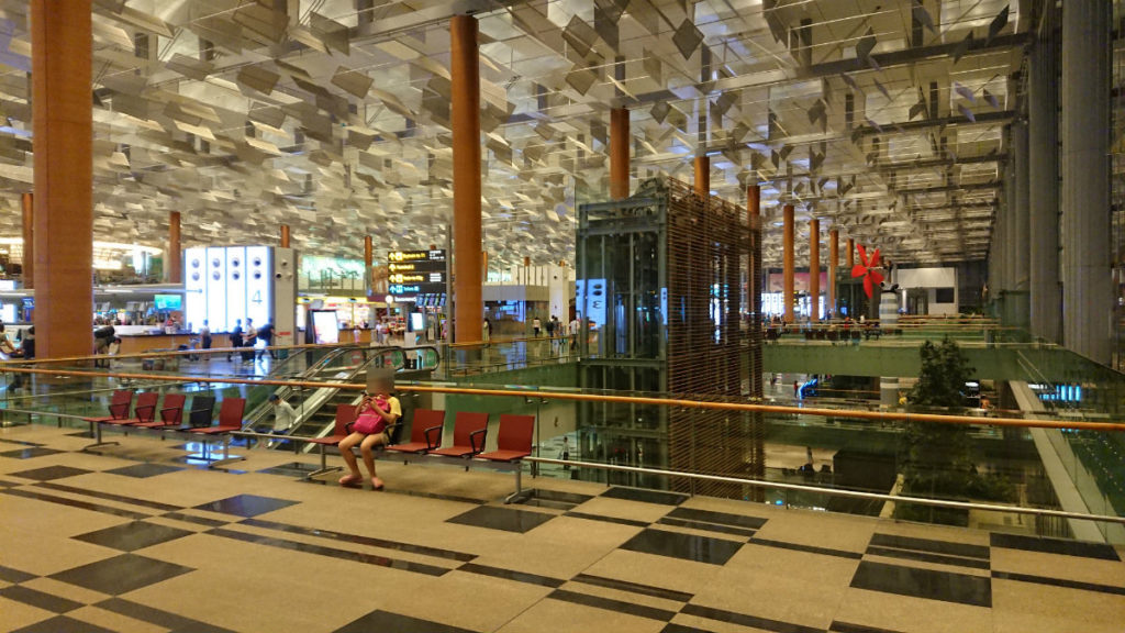 シンガポールチャンギ空港 ターミナル3 出発ロビー