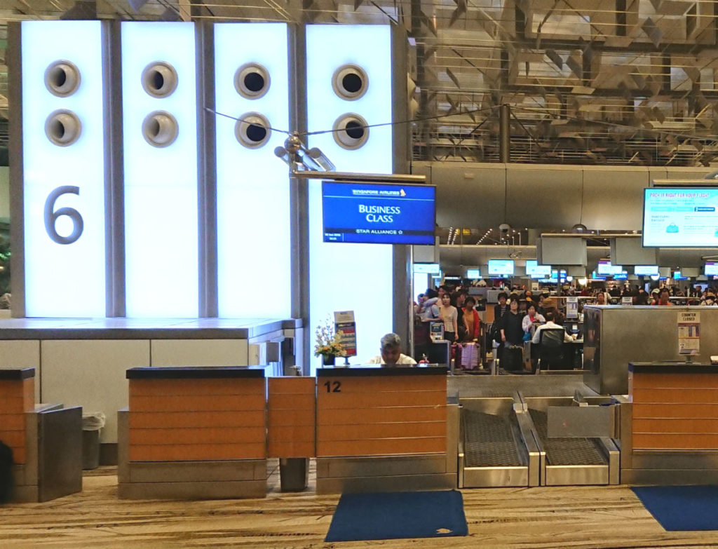 シンガポールチャンギ空港 ターミナル3 Row6