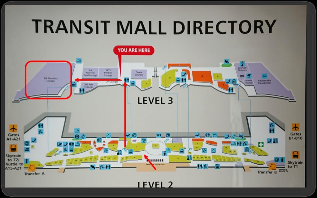 シンガポールチャンギ空港 T3 マップ