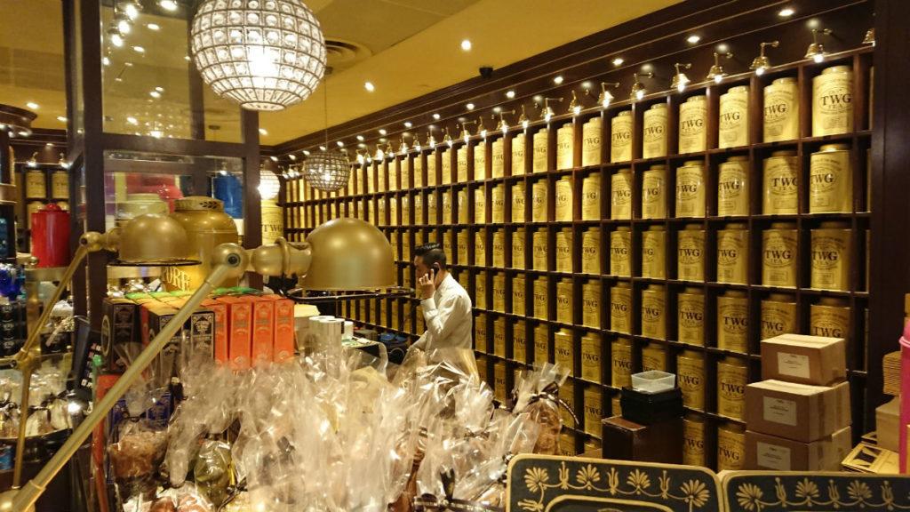シンガポールチャンギ空港 TWGの紅茶