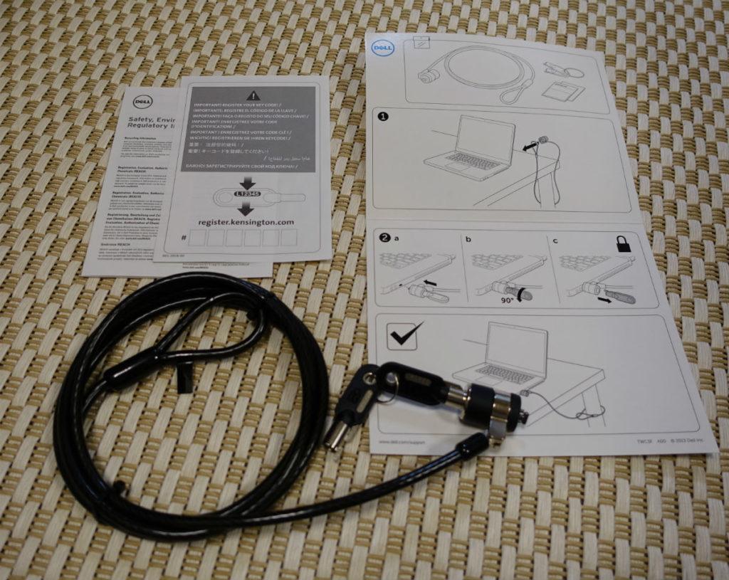 Dell Vostro 15 7000 本体と同時購入の接続できないケンジントンロック