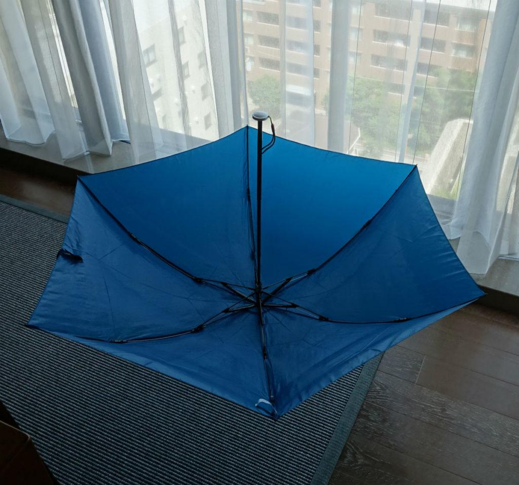 Water Front 55cm 超軽カーボン三つ折り傘 空中浮遊