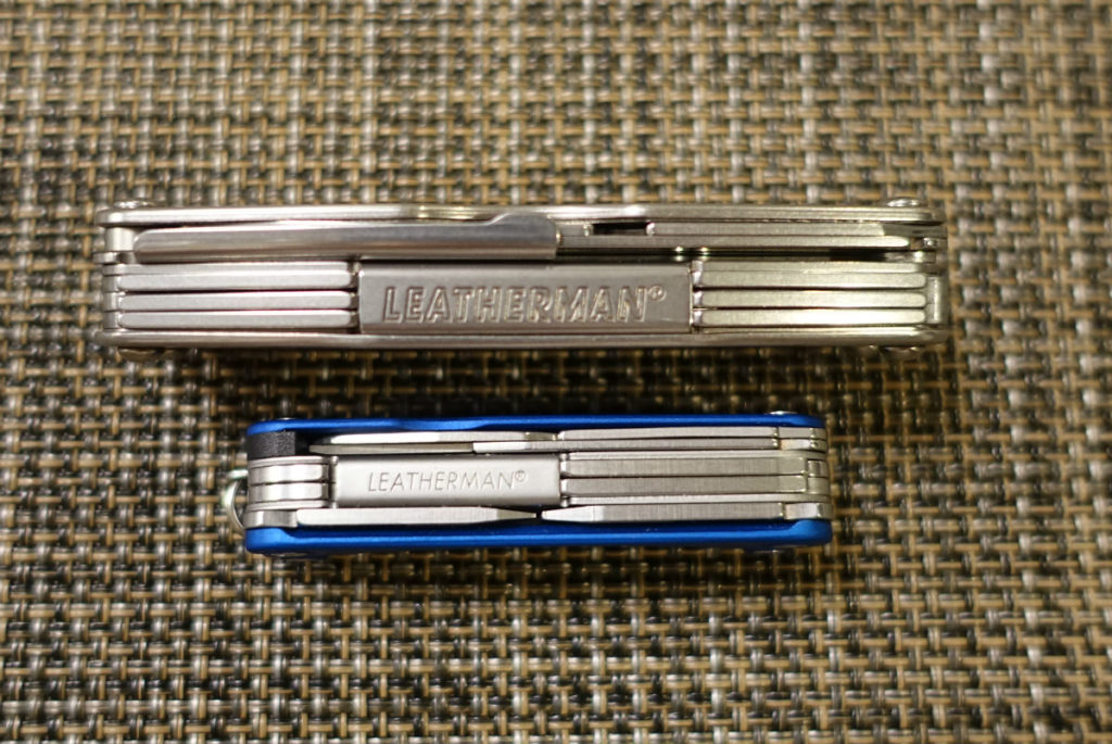 LEATHERMAN JUICE S2 Squirt PS4 格納時厚み比較