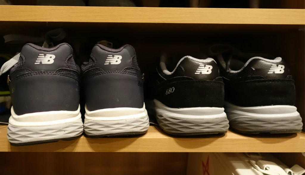 NEW BALANCE MW880G Navy とMW880