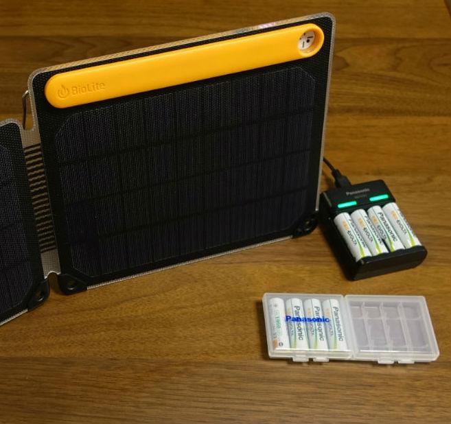 充電式エボルタUSB充電器 BQ CC61 Billiteで充電
