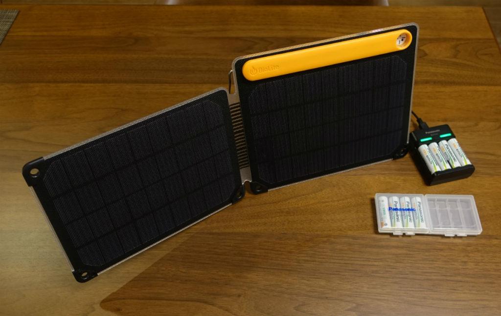 充電式エボルタUSB充電器 BQ CC61 Billite ソーラーパネルで充電