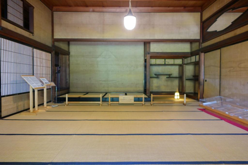 旧岩崎庭園 和館 広間 床の間の富士