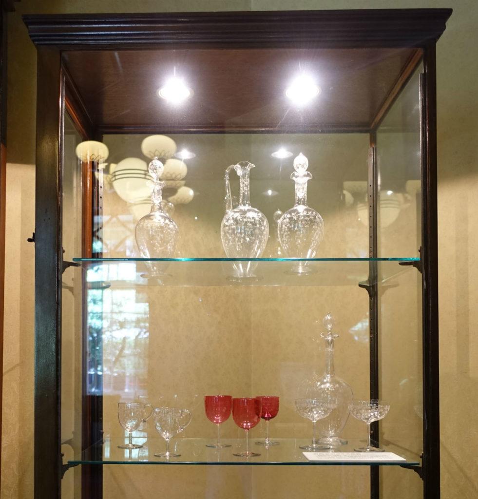 旧岩崎庭園 洋館1F バカラのグラス