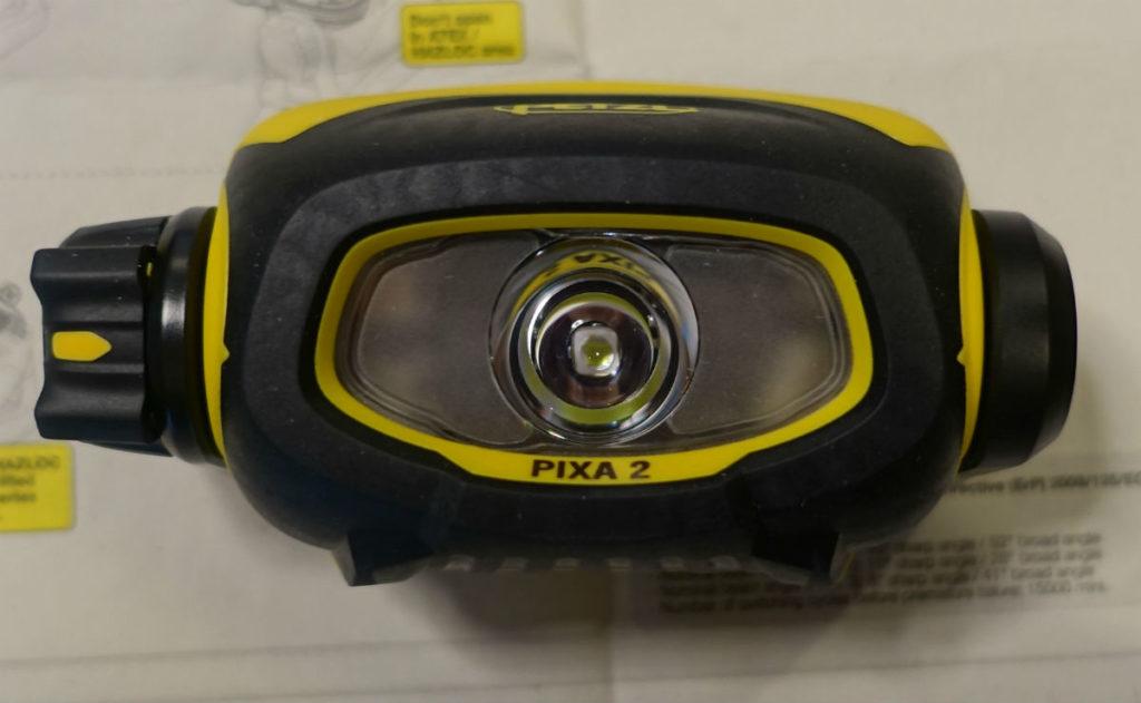 Petzl PIXA2 本体正面 LED レンズ部