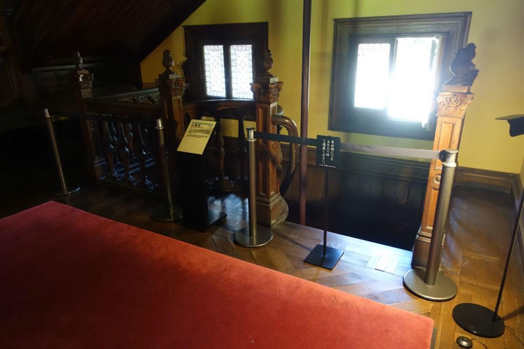 旧岩崎庭園 洋館1階 地下への階段