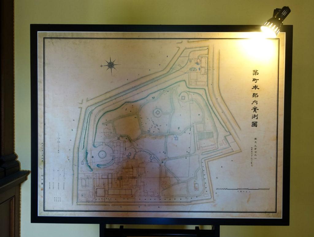 旧岩崎庭園 当時の全体の図面