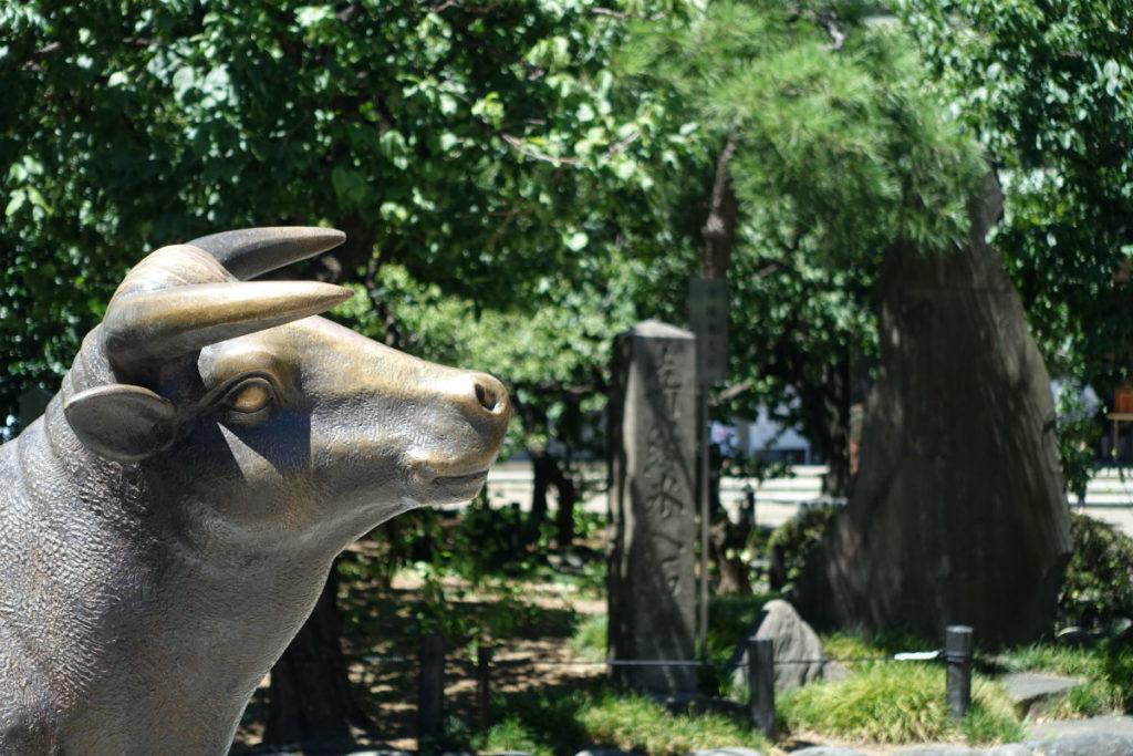 湯島天満宮 牛像
