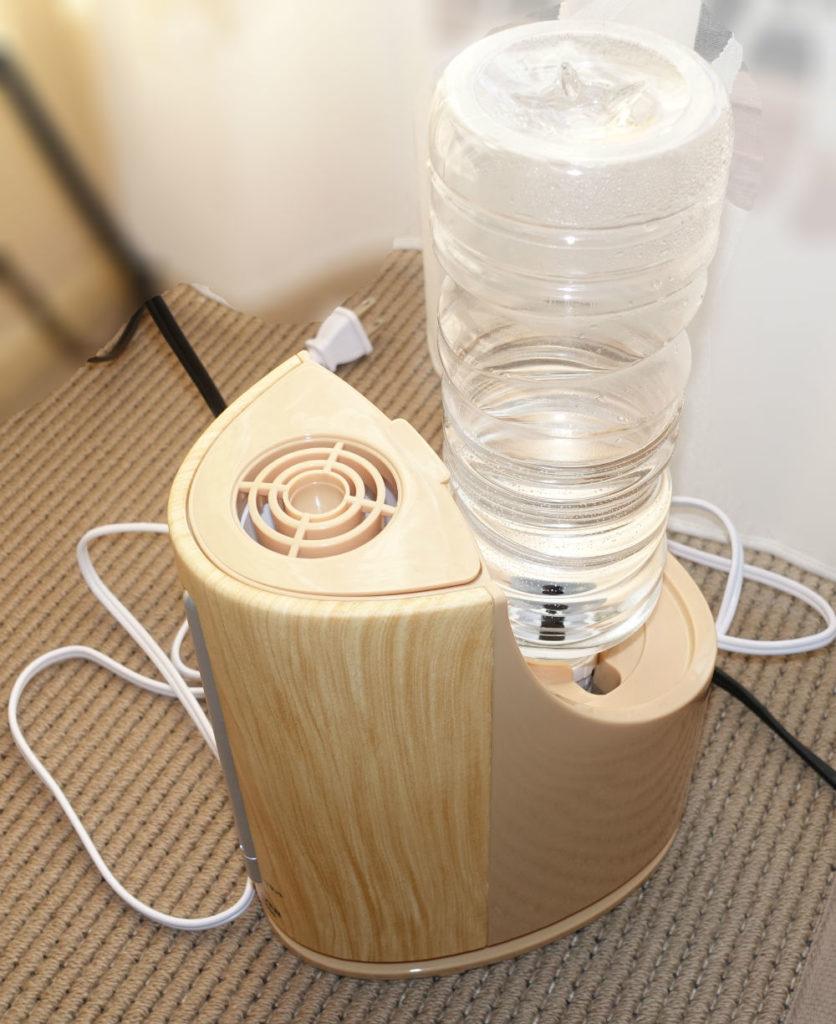山善 ペットボトル加湿器KP-C055 本体とペットボトルセット後