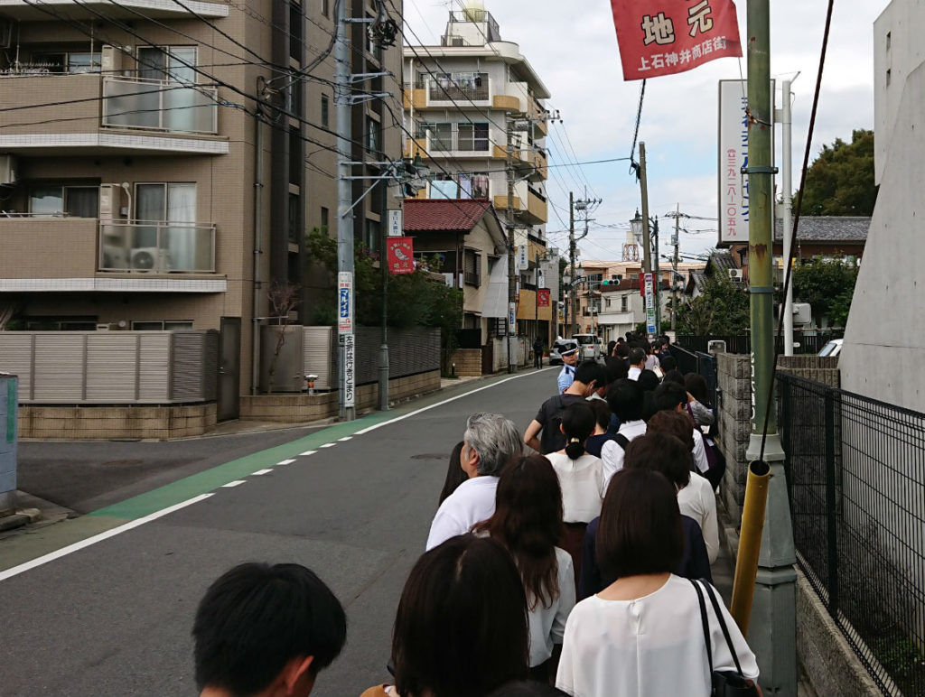 神石神井駅から早稲田高等学院へ向かう道