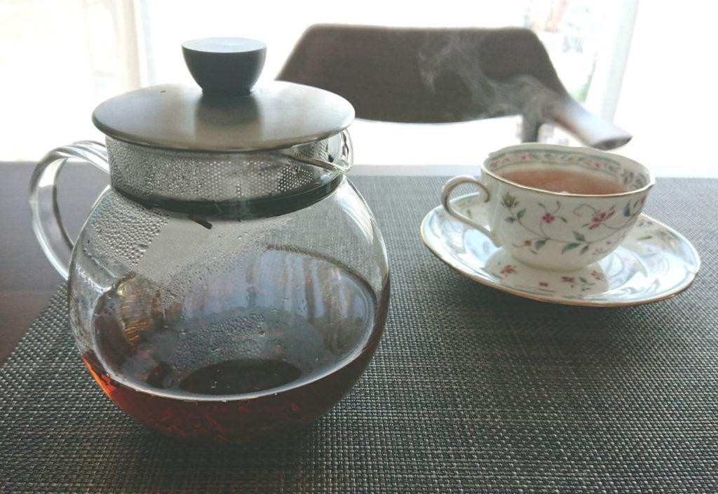 HARIO ジャンピングリーフポットS 紅茶淹れてみた