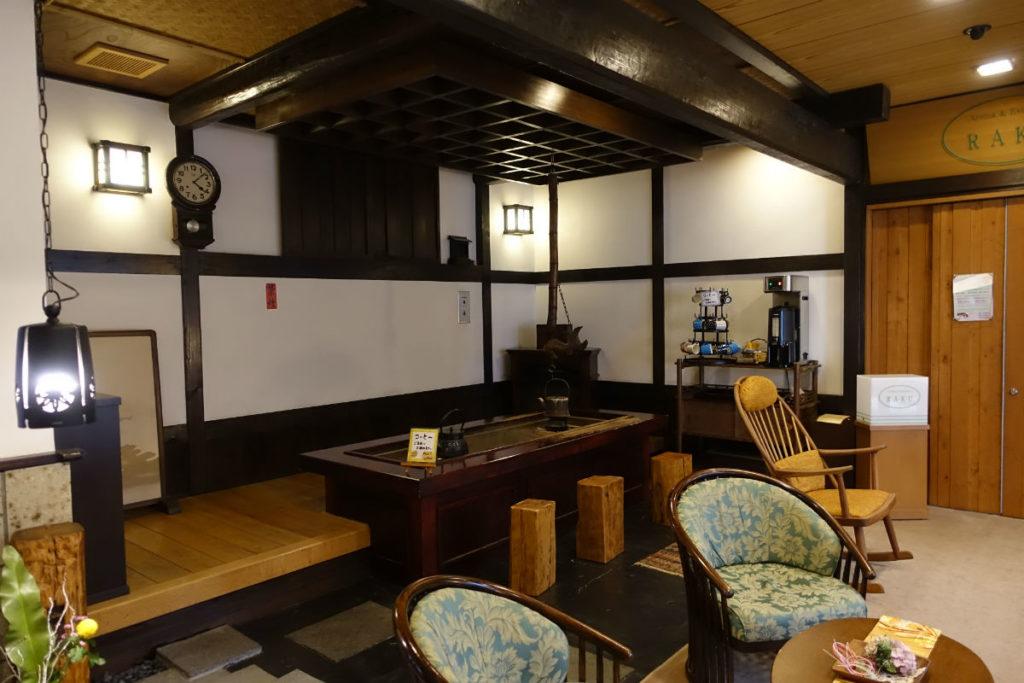 小樽 宏楽園 一階のお休み処 珈琲のサービス
