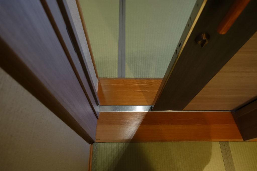 滝の家 客室玄関 引き戸 バリアフリー化
