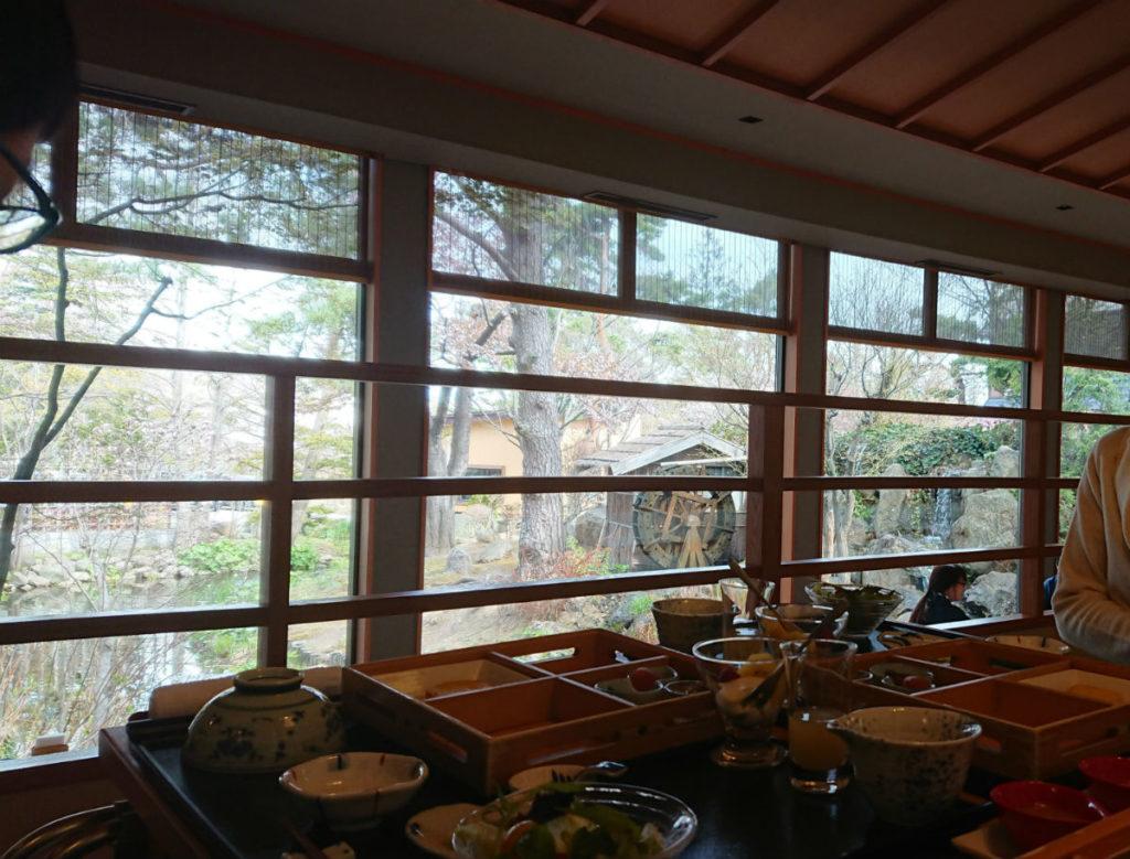 小樽 宏楽園 朝食 花音からの外の景色