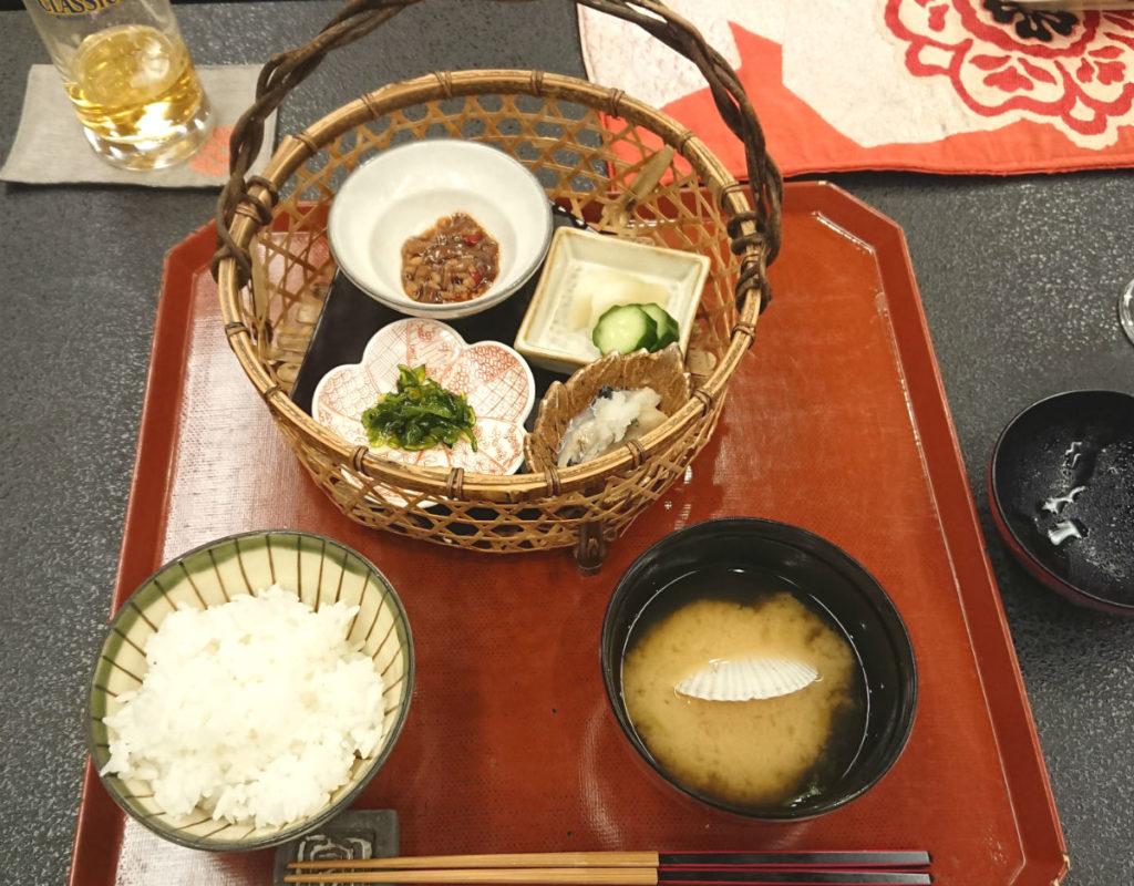 小樽 宏楽園 5月夕食 ごはんとお味噌汁