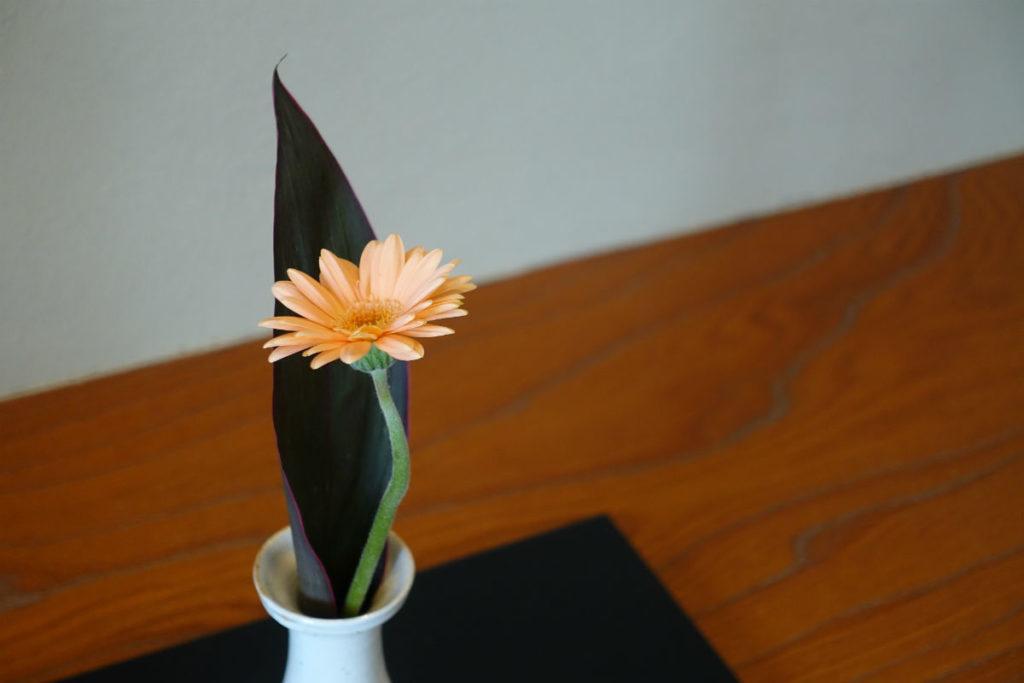小樽 宏楽園 露天風呂無し和室客室 床の間の花