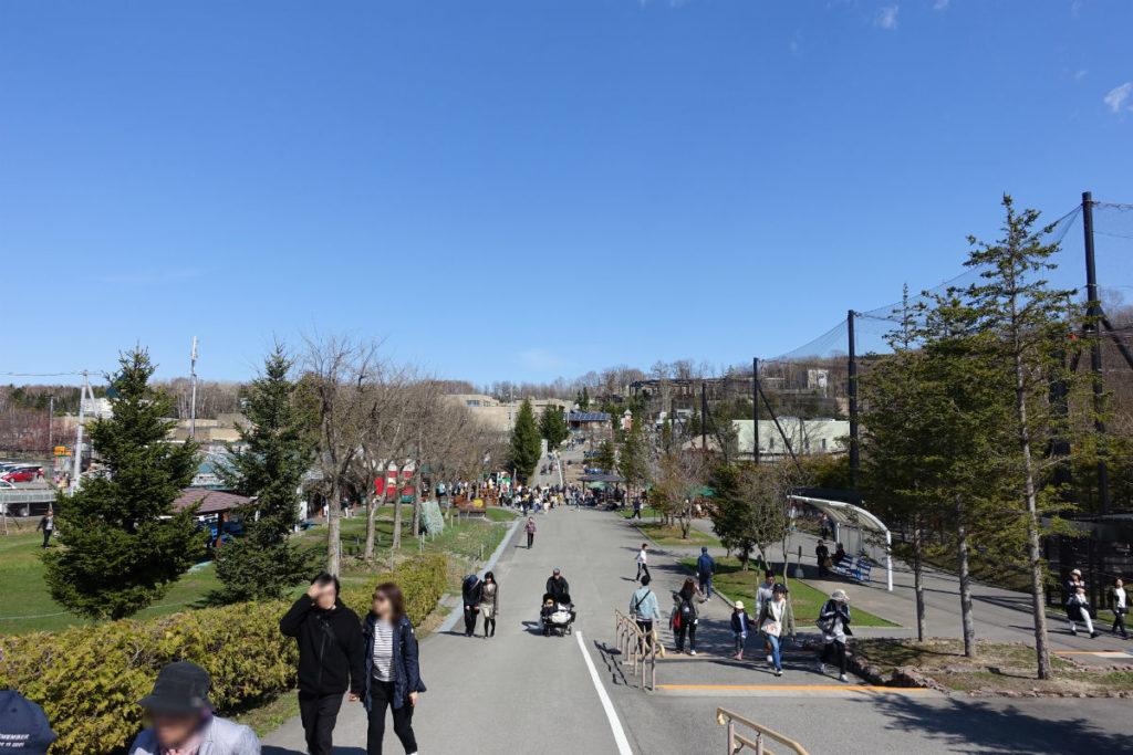 北海道旭山動物園 正門付近からの遠景