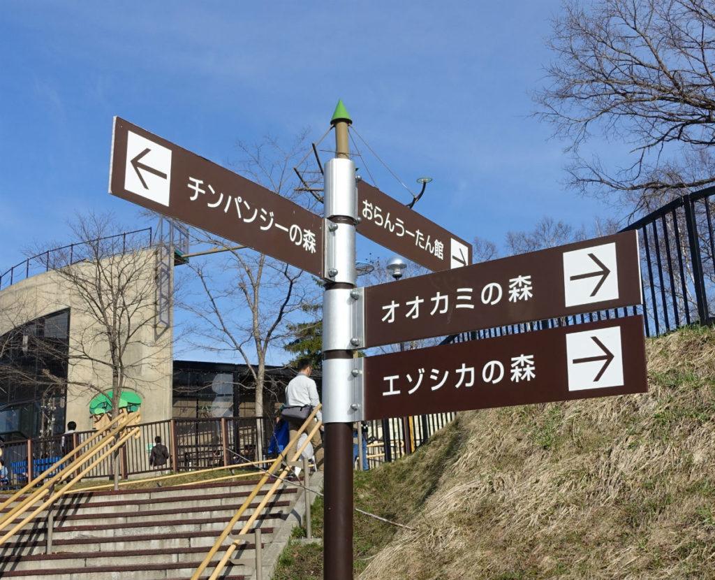 北海道旭山動物園 園内の案内