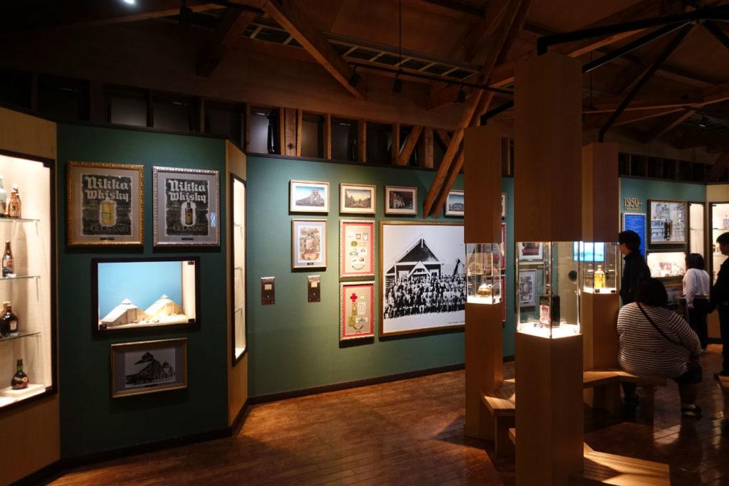 北海道余市 ニッカウヰスキー余市蒸留所 ウィスキー博物館 展示の一例