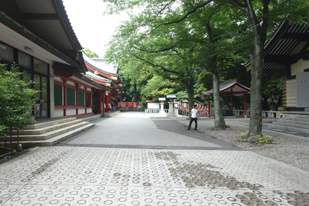 日枝神社 山王神社 東側通路