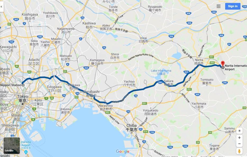 日暮里 成田空港 京成本線 ルート