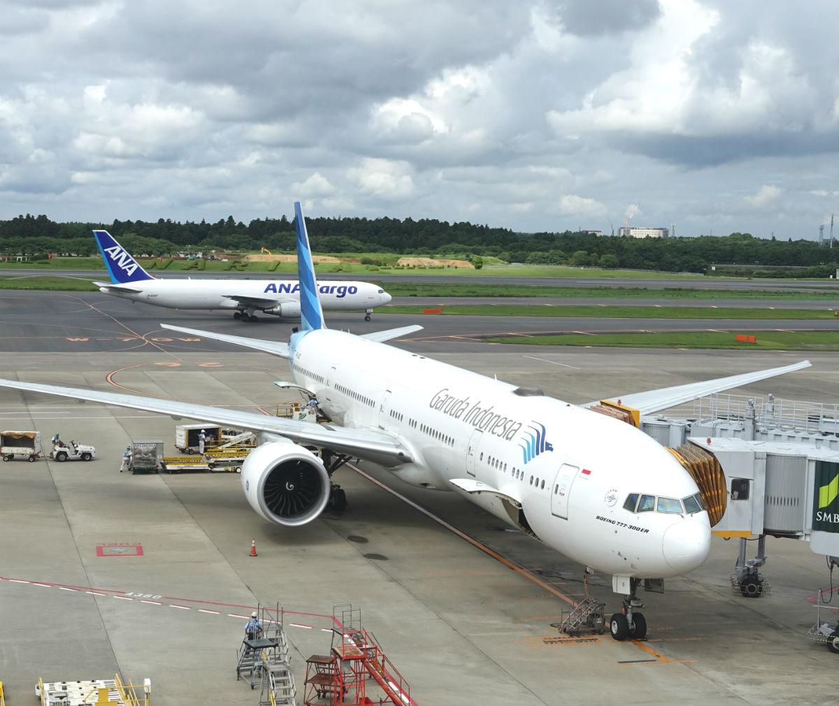 成田空港 ガルーダインドネシア航空の機体