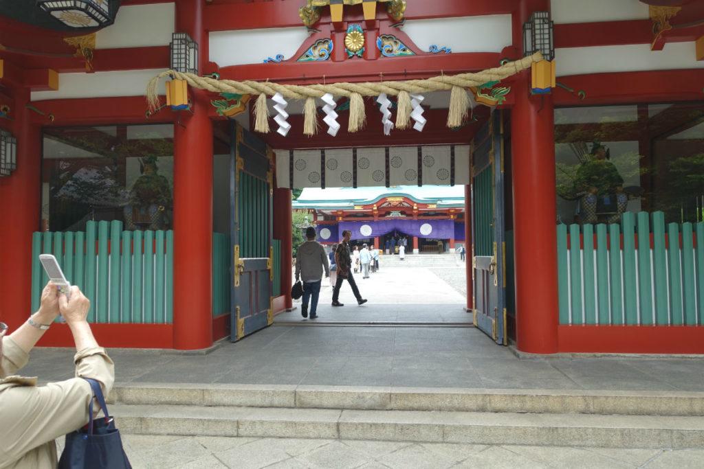 日枝神社 山王神社 宝物殿 神門