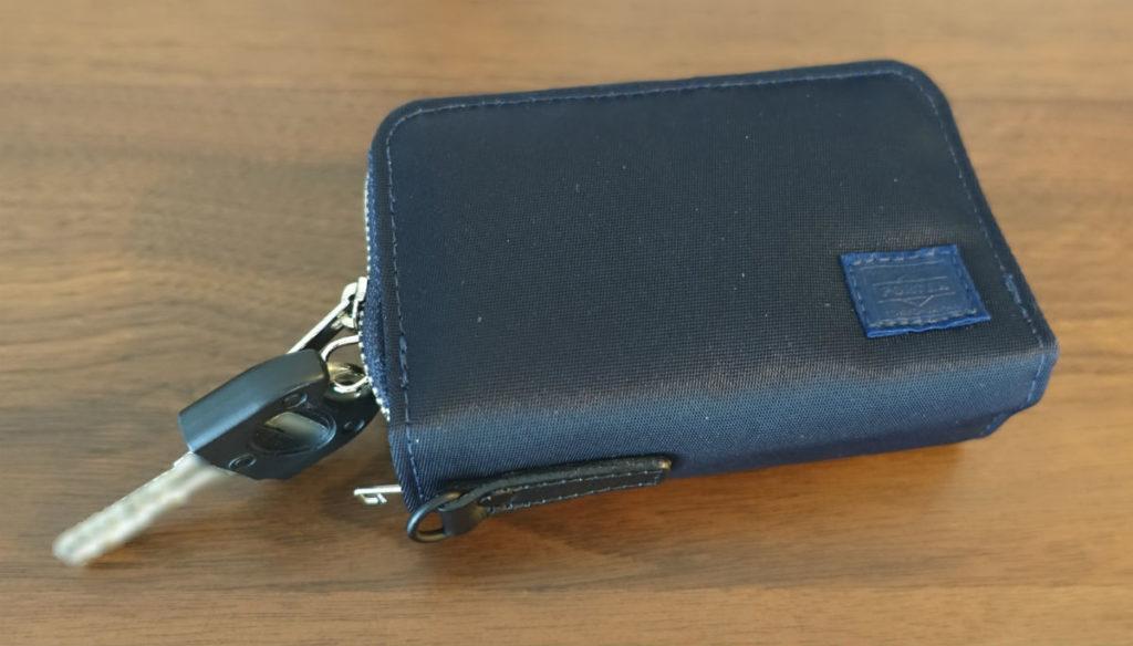 PORTER LIFT キー&コインケース ネイビー 収納後状態 よく使う鍵だけ引き出したところ