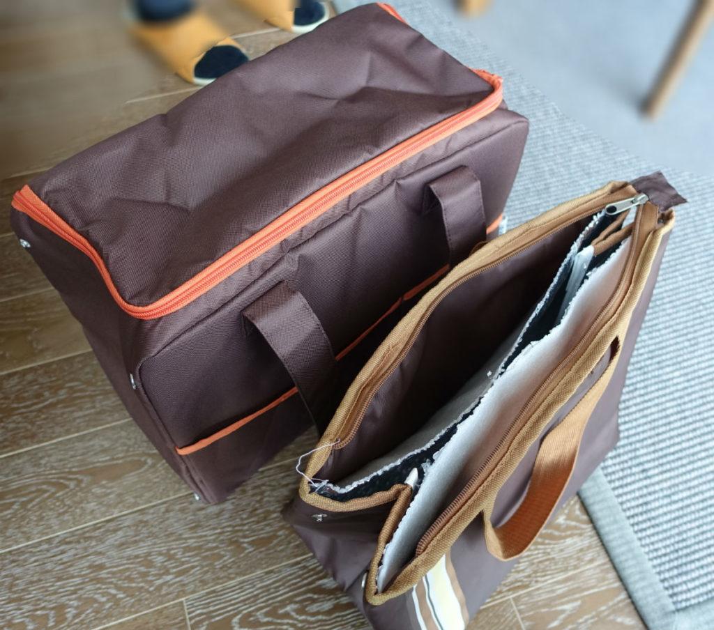 サーモス保冷ショッピングバッグPER-025と、旧保冷バッグ
